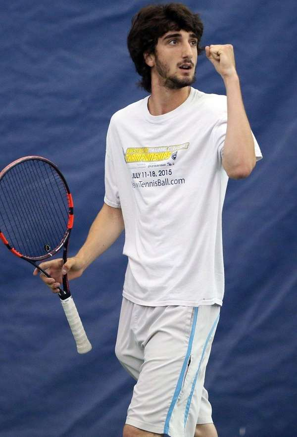 Yuval Soloman from Plainview JFK during his semifinal