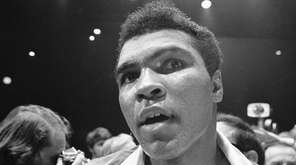 Muhammad Ali after fight with George Chuvalo in