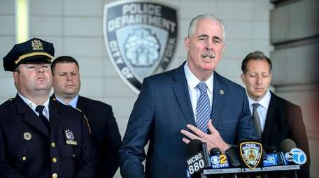 NYPD Chief of Detectives Robert Boyce speaks at
