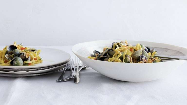 Pasta with clams is on the menu at