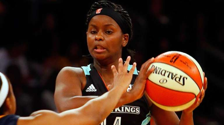 Sugar Rodgers #14 of the New York Liberty
