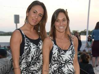 Marianna Mejias and Maria Marin attend Jonny Lennon's