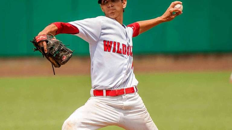 Wheatley Boys baseball player starting pitcher Antonio Dedato