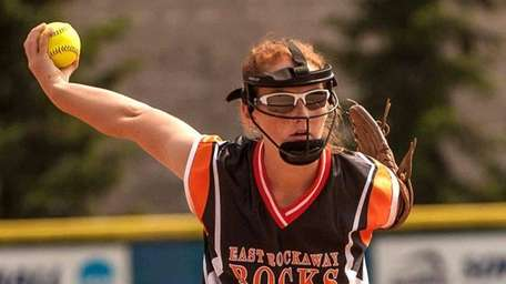 East Rockaway's Emily Chelius (2), during the New