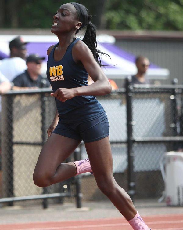 West Babylon's Brittany Korash wins the 200m dash