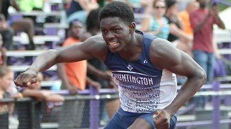 Huntington's Infinite Tucker wins the 400m hurdles during
