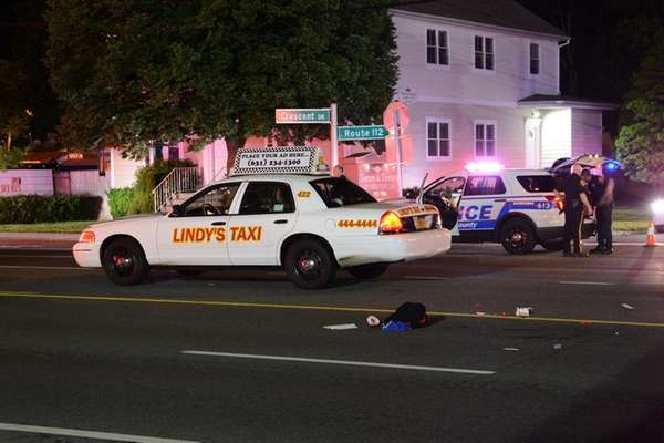 A pedestrian was struck and killed by a