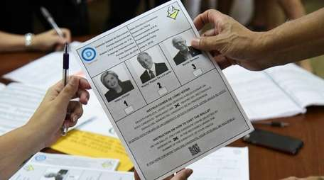 Puerto Rico primary voters on Sunday, June 5,