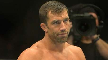 Luke Rockhold in the cage during his middleweight