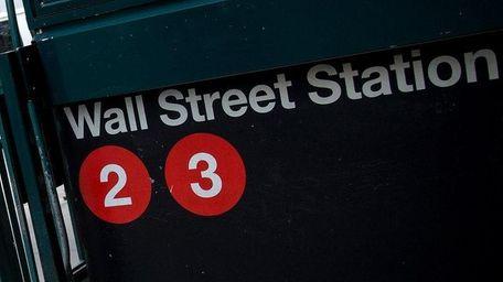The Wall Street subway station near New York
