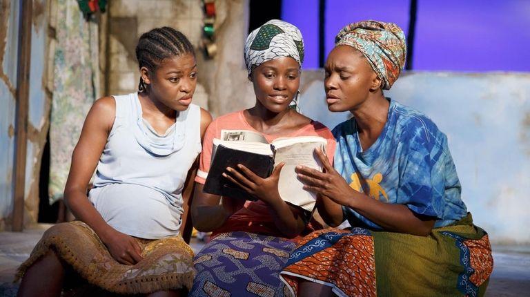 Pascale Armand, left, Lupita Nyong'o and Saycon Sengbloh