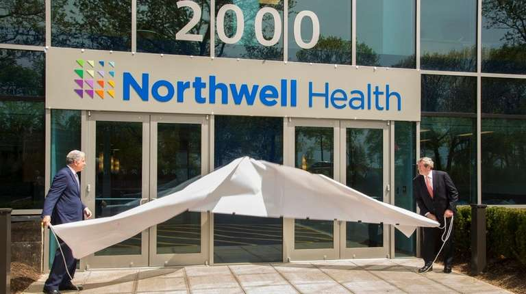 Mark Claster, left, chairman of the Northwell Health