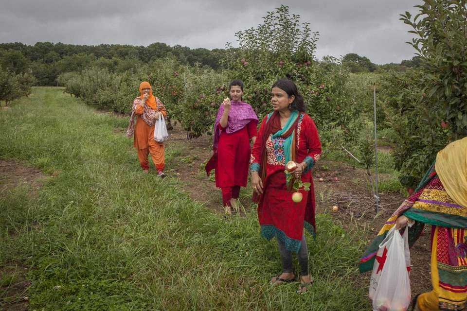 Parveen, Farah and Nasuma on a Labor Day
