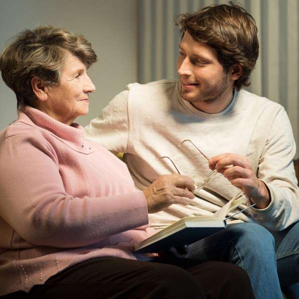 When talking to people with Alzheimer's, approach from