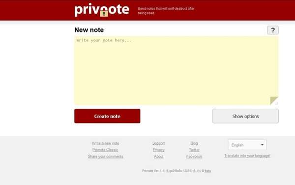 Privnote is an app that lets you send