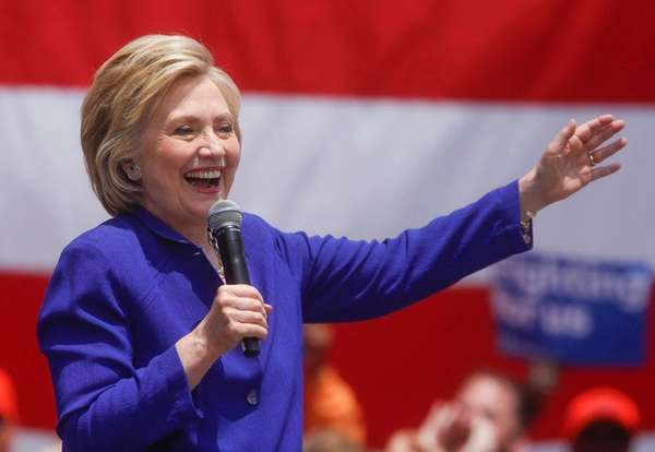 Hillary Clinton, campaigning in Lynwood, Calif., on Monday,
