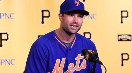 Neil Walker of the New York Mets speaks