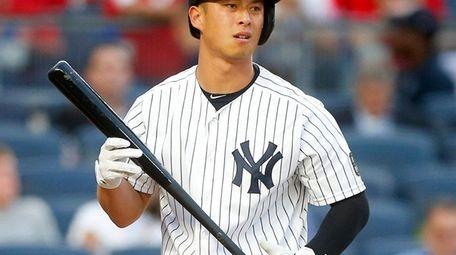 Robert Refsnyder #38 of the New York Yankees
