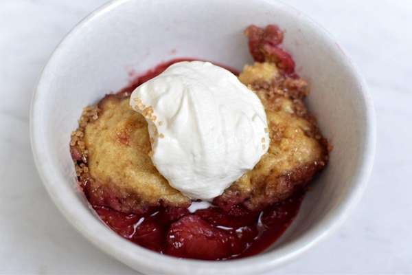 This recipe for strawberry dumplings is a riff