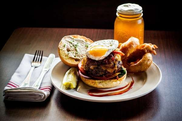 The chef's burger at American Beauty Bistro.