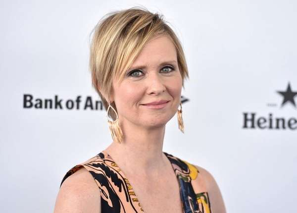 Cynthia Nixon arrives at an event in California