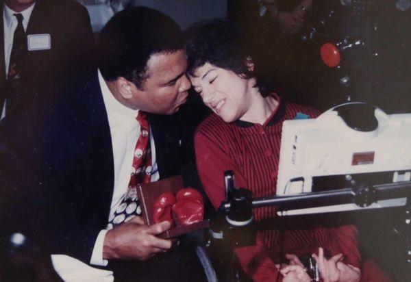 Jean Bilello meets Muhammad Ali during his 1996