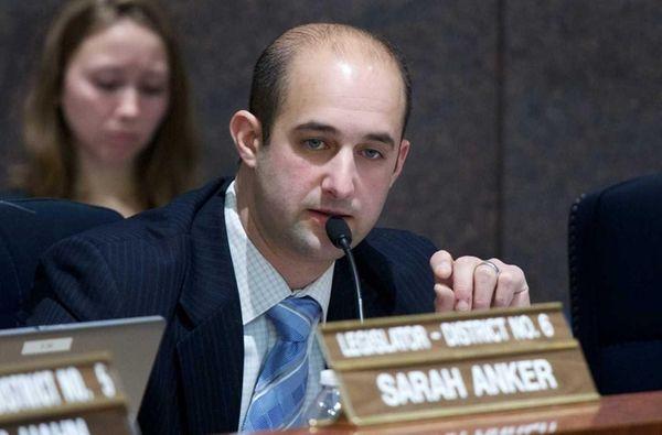 Suffolk County Legis. Robert Calarco speaks during a