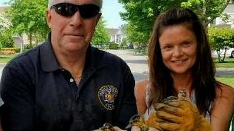 Suffolk SPCA Chief Roy Gross and his daughter-in-law,