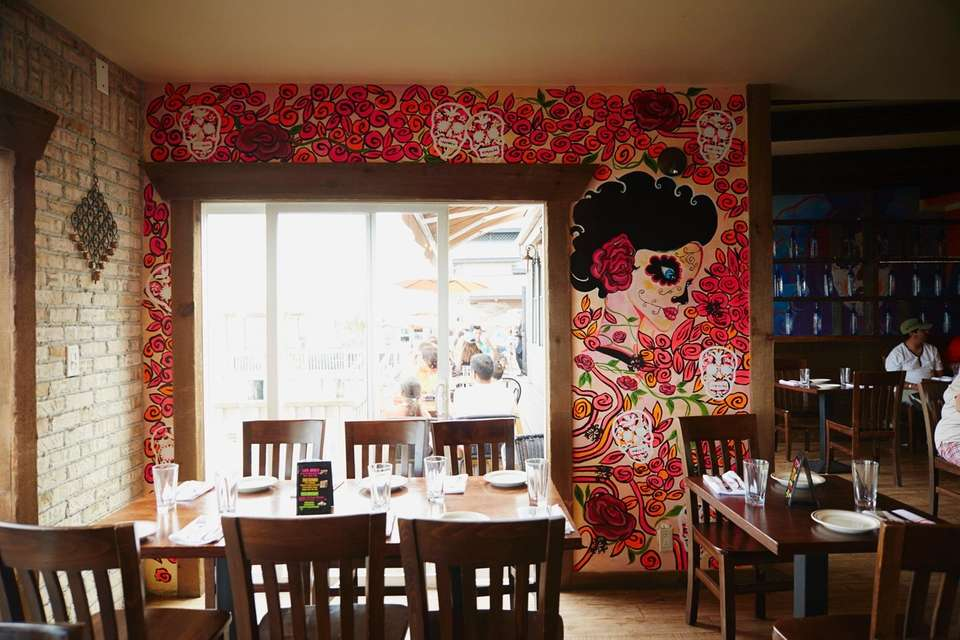 The walls of El Toro restaurant on the