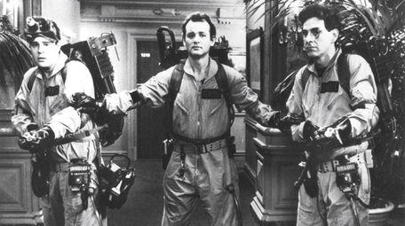 From left, Dan Aykroyd, Bill Murray and Harold