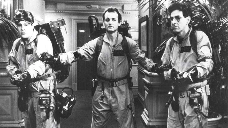 From left, Dan Aykroyd, Bill Murray and Harold
