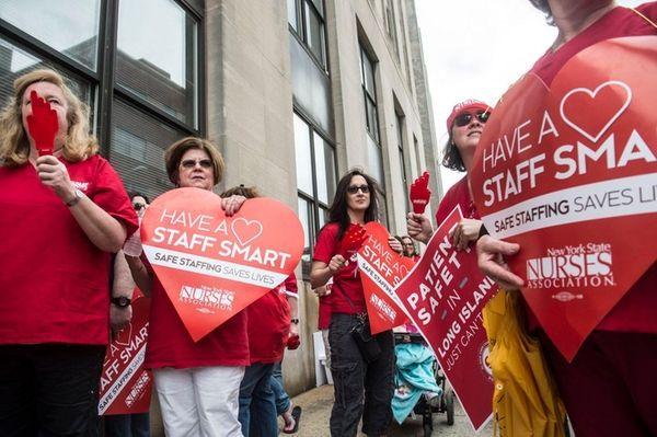Catholic Health Systems nurses from three Long Island