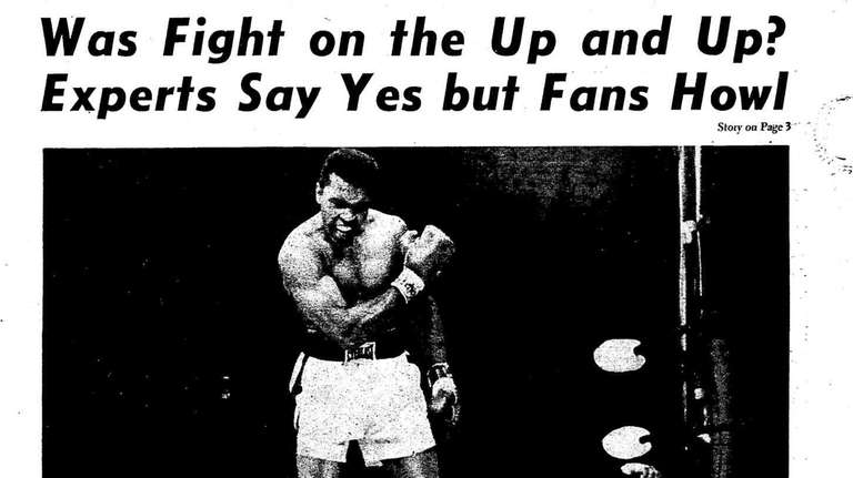 Newsday cover from May 26, 1965: Cassius Clay