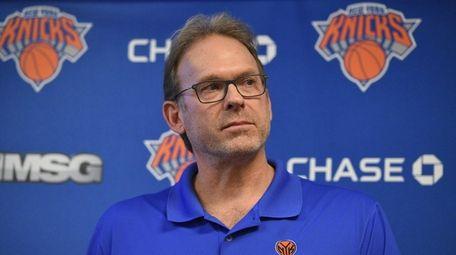 New York Knicks interim head coach Kurt Rambis