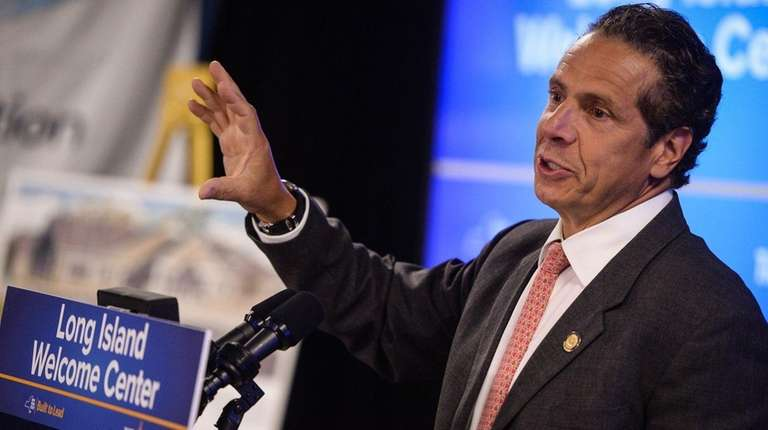 Gov. Andrew Cuomo speaks at a meeting of