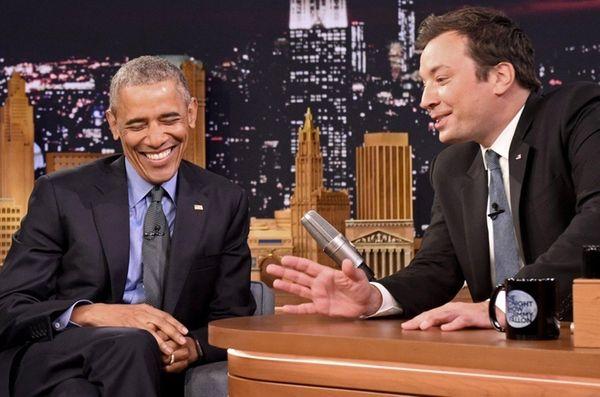President Barack Obama speaks with Jimmy Fallon on