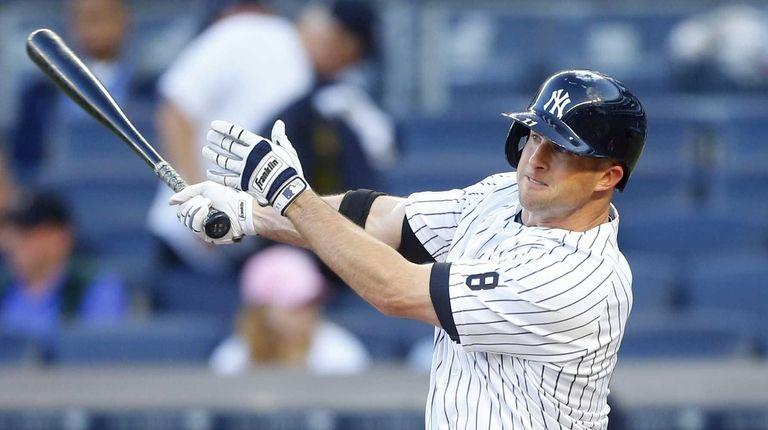Brett Gardner of the New York Yankees follows