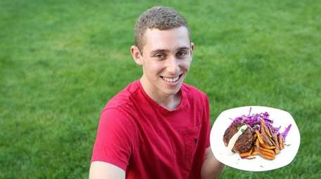 Tyler Bloch cooks healthy dinners for his family