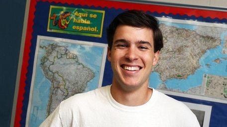 Ross DiBetta, a senior at Mount Sinai High