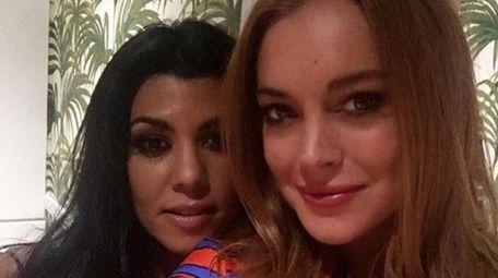 Kourtney Kardashian posted this Instagram photo with Lindsay