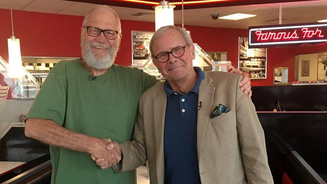 Tom Brokaw, right, has interviewed David Letterman for