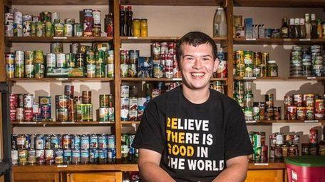 Alexander Perlak at the food pantry he helped