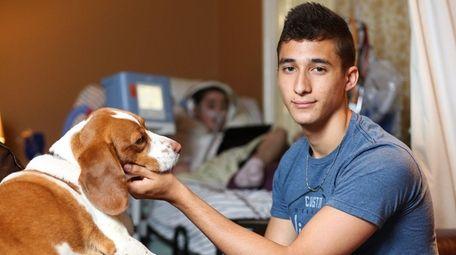 Jericho High School senior Dante Vigliotti, 18, poses