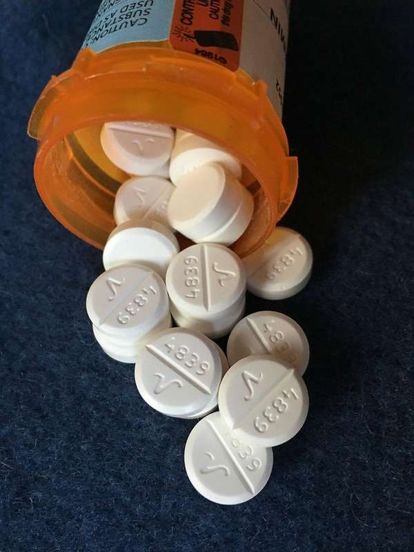 Oxycodone tablets like those above have contributed to