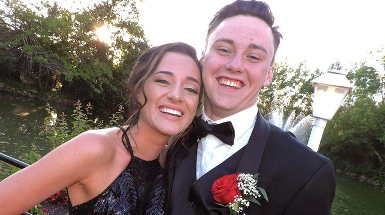 Mineola High School senior Genevieve Peters was prom-posed
