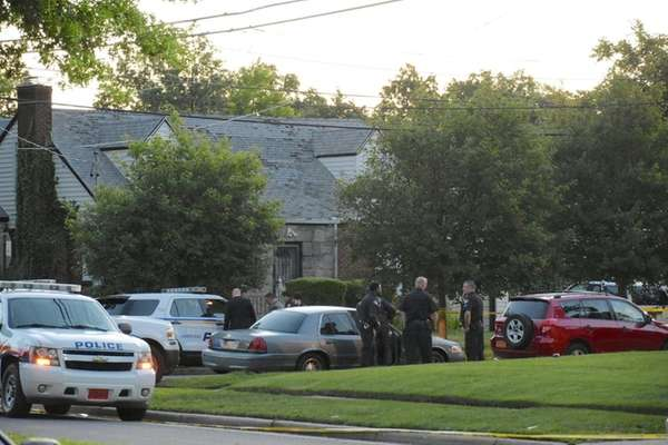 Nassau County and Hempstead Village police investigate a