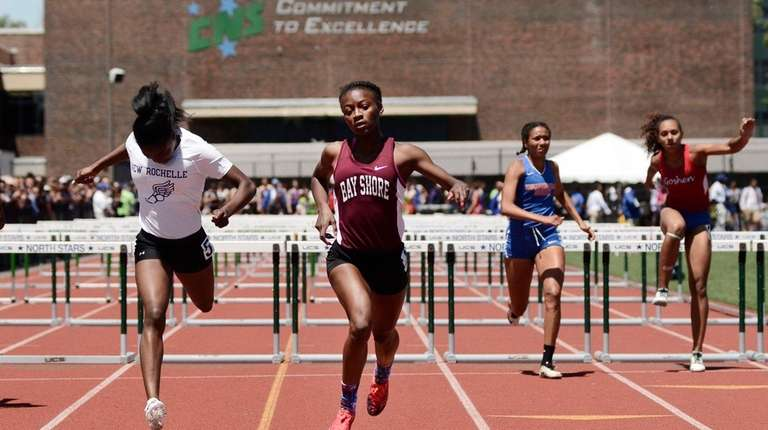 Bay Shore's Aviana Goode finishes first in her