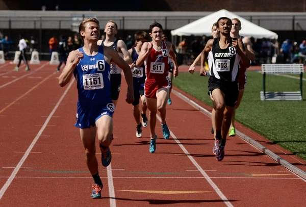 Riverhead's Luke Coulter finishes first in his heat,