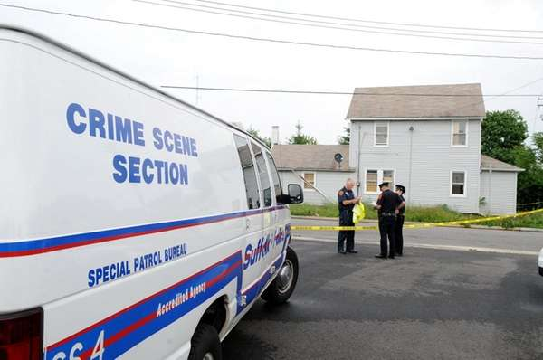 Suffolk County police investigate a shooting that wounded