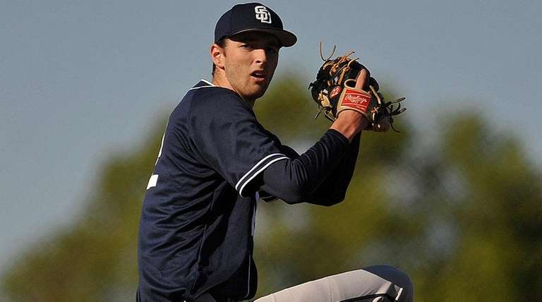 St. Dominic pitcher Kyle Young delivers against Chaminade